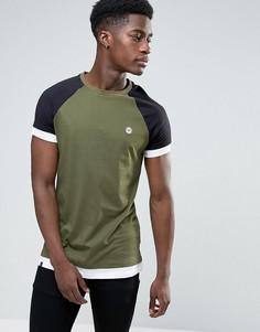 Длинная футболка с рукавами реглан Le Breve - Черный