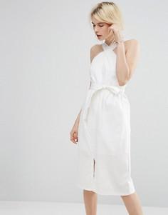 Платье миди А-силуэта Vero Moda - Белый