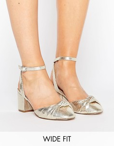 Широкие туфли на каблуке с отделкой ASOS SAMIRA - Золотой