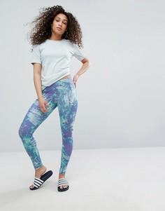 Леггинсы с принтом океана adidas Originals - Мульти