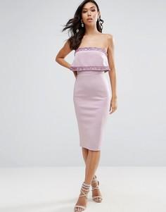 Платье миди бандо ASOS - Розовый