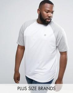 Длинная футболка с рукавами реглан Le Breve - Белый