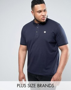 Облегающая футболка-поло Le Breve PLUS - Темно-синий