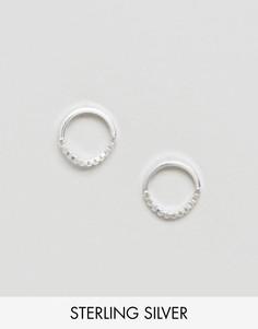 Серебряные серьги-кольца с цепочками 10мм ASOS - Серебряный