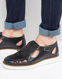 Черные сандалии с пряжками London Brogues - Черный