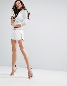Шорты с отделкой по краю Versace Jeans - Белый