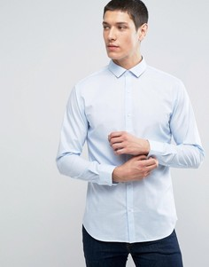 Рубашка узкого кроя Selected Homme - Синий