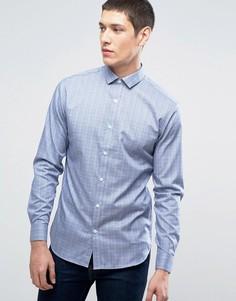 Приталенная рубашка в клетку Selected Homme - Темно-синий