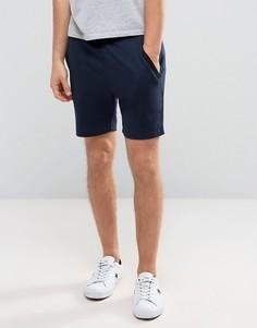 Трикотажные шорты с отделкой в рубчик сбоку Jack & Jones - Темно-синий