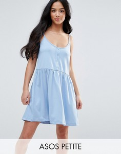 Свободное платье с планкой на пуговицах ASOS PETITE - Мульти