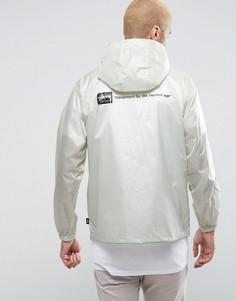 Куртка с принтом на спине Stussy - Светло-серый
