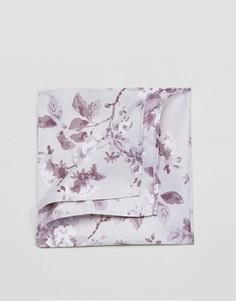 Платок для нагрудного кармана с цветочным принтом ASOS - Серый