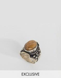 Кольцо с тигровым глазом Reclaimed Vintage Inspired - Серебряный