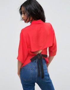 Блузка с поясом ASOS - Красный