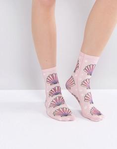 Носки с ракушками Monki - Розовый