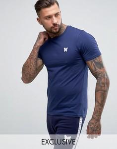 Темно-синяя облегающая футболка с логотипом на груди Good For Nothing - Темно-синий