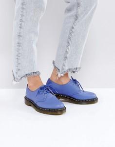 Кожаные туфли на плоской подошве со шнуровкой Dr Martens 1461 - Синий