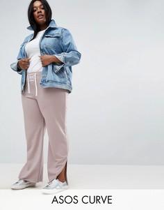 Спортивные брюки со шнуровкой ASOS CURVE - Серый