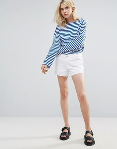 Джинсовые шорты с необработанным краем Pieces - Белый