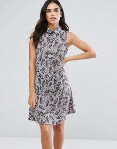 Свободное платье-рубашка с бабочками Vesper - Мульти