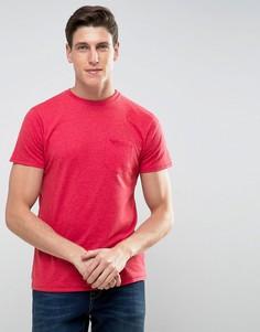 Меланжевая футболка с карманом Threadbare - Красный