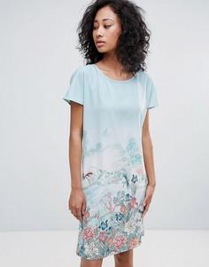 Платье-туника с принтом Uttam Boutique - Синий