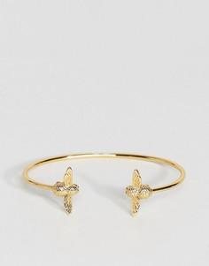 Золотистый браслет с двумя литыми пчелами Olivia Burton - Золотой