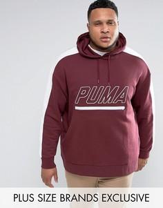 Худи красного цвета из махровой ткани в винтажном стиле Puma PLUS T7 эксклюзивно для ASOS - Красный