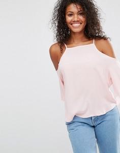 Топ с вырезами на плечах Brave Soul - Розовый