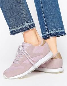 Сиреневые кожаные кроссовки Reebok Classic Seaworn - Фиолетовый