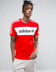 Красная футболка adidas Originals London Pack BK7783 - Красный