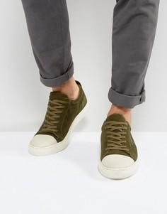 Низкие кроссовки из замши цвета хаки KG By Kurt Geiger - Зеленый