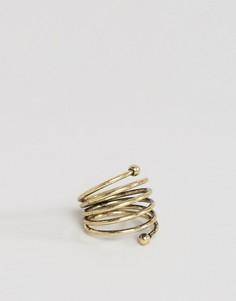 Кольцо цвета обожженного золота ASOS - Золотой