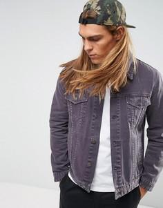 Фиолетовая выбеленная джинсовая куртка ASOS - Фиолетовый