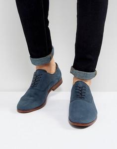 Синие замшевые туфли дерби Aldo - Синий