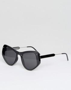 Черные солнцезащитные очки кошачий глаз с плоскими стеклами Spitfire - Черный