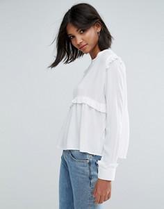 Блузка с оборкой Unique 21 - Белый