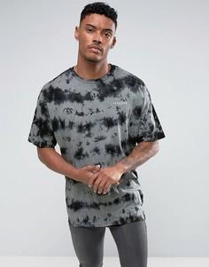 Черная свободная футболка с размытым принтом Illusive London - Черный