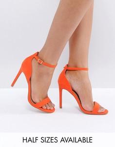 Сандалии на каблуке ASOS HANG TIME - Оранжевый