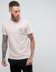 Узкая розовая футболка с логотипом Farah - Розовый