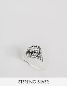 Серебряное кольцо с головой лошади ASOS - Серебряный