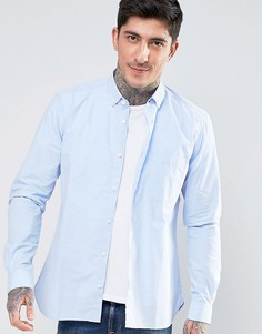 Поплиновая рубашка на пуговицах YMC - Синий