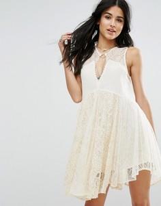 Кружевное платье мини Free People Dont You Dare - Белый