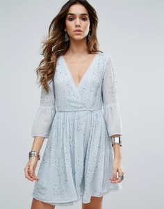 Декорированное платье для вечеринок Free People Winter Solstice - Синий