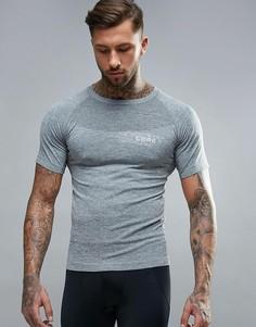 Бесшовная спортивная футболка CoreX - Серый