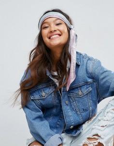 Серебристый головной платок со складками ASOS - Серебряный