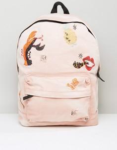 Рюкзак с вышивкой ASOS x Lot Stock - Розовый