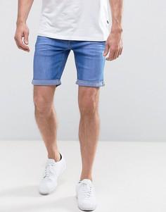 Ярко-синие джинсовые шорты Blend - Синий
