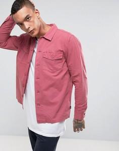 Рубашка в стиле милитари Stussy - Розовый
