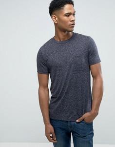 Фактурная футболка с карманом ASOS - Темно-синий